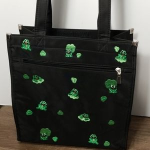 Frog Embroidered Tote Bag